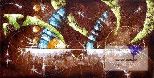 """""""Sans titre"""", 1200 x 600, acrylique sur toile, 2013."""
